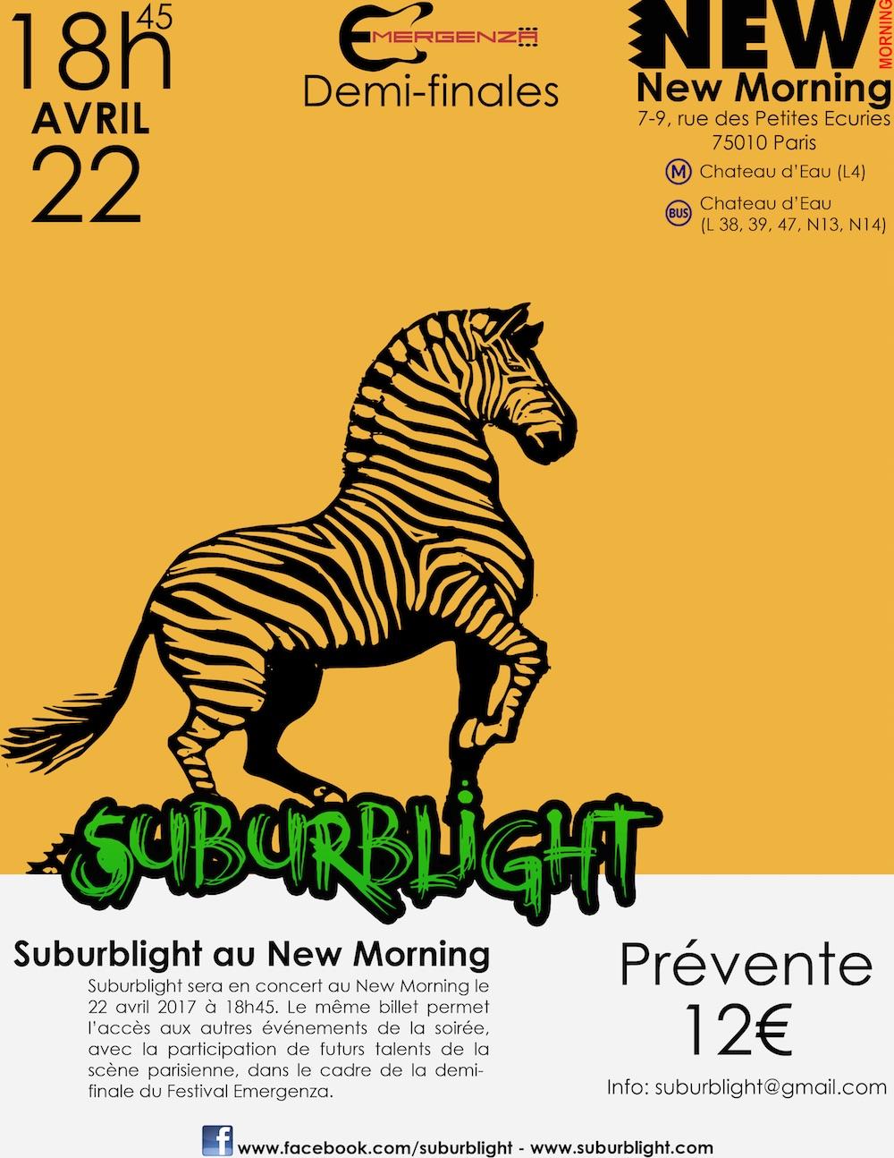 Suburblight - Concert au New Morning